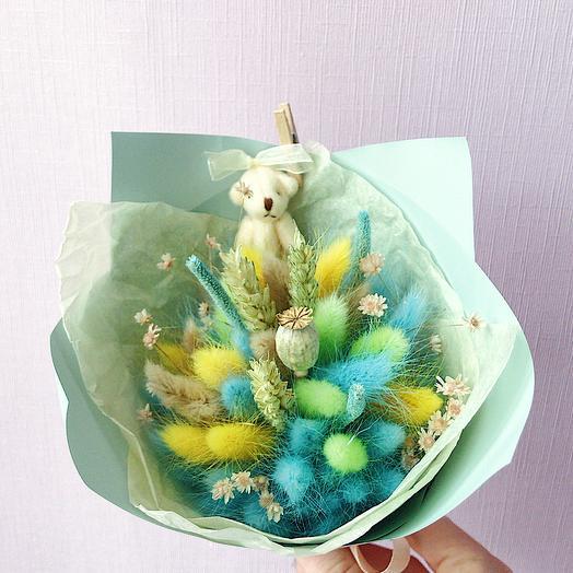 """7 """"Лимонный и бирюза"""" (детский): букеты цветов на заказ Flowwow"""