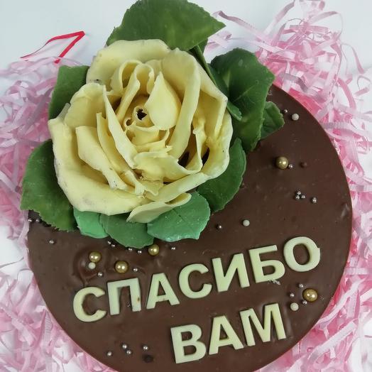 Шоколадный цветок с пожеланиями: букеты цветов на заказ Flowwow