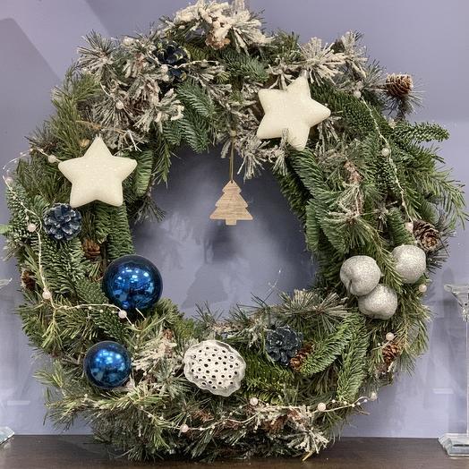 Венок merry Christmas: букеты цветов на заказ Flowwow