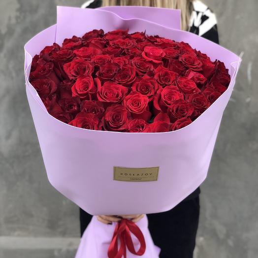 Шикарный букет роз: букеты цветов на заказ Flowwow