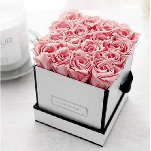 Коробка роз нежность