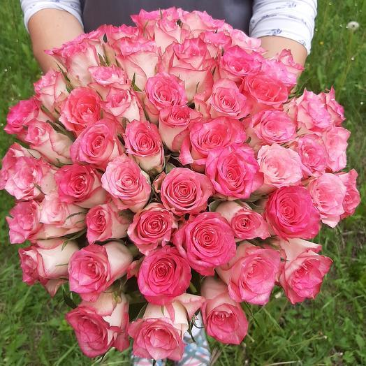Роза 55шт: букеты цветов на заказ Flowwow