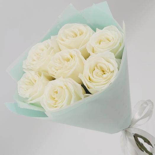 ✅ Букет 7 роз 💐 Облачко в небе