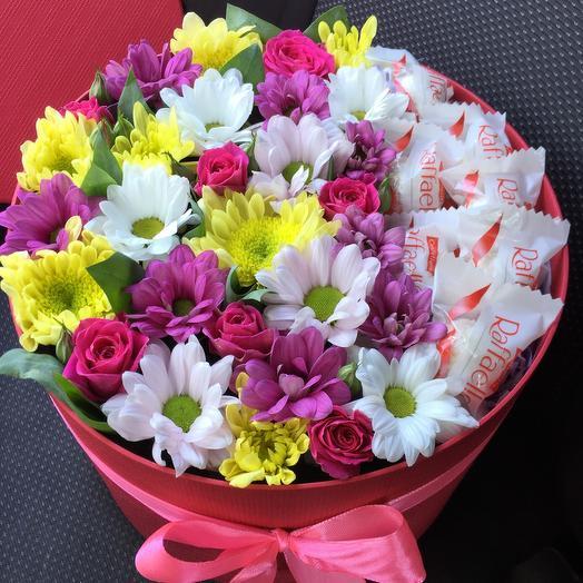 Цветы с рафаэлло 7