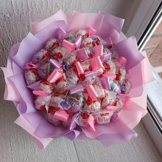 Bouquet of Raffaello and Kinder surprise