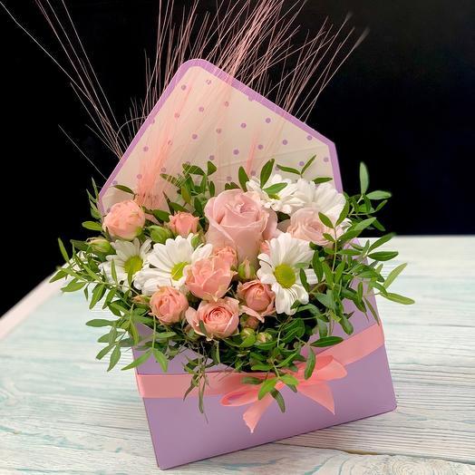 Конверт с цветами Лилу