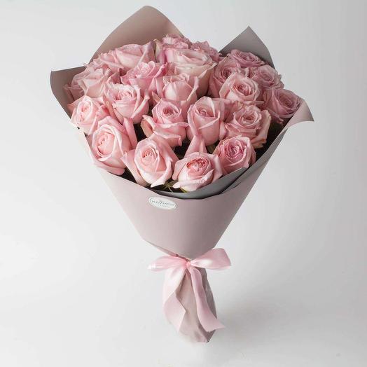 "Букет из роз  ""Пинк Охара"""