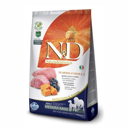 Farmina N D Dog сухой корм для собак средних/крупных пород (ягненок с черникой и тыквой) 2,5 кг