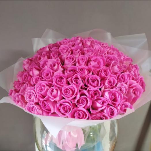 101 розовая роза Аква