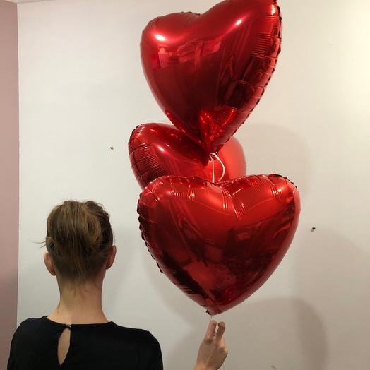 3 шара сердце