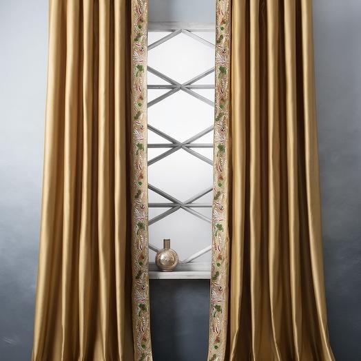 Комплект штор Шарлиз Золотой, 200х280 см - 2 шт