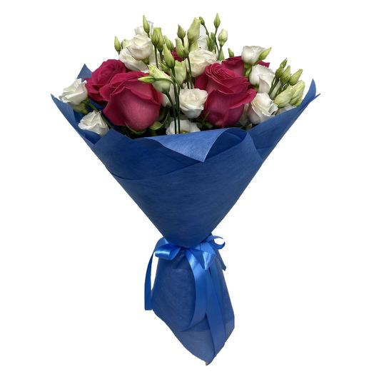 Букет из роз и эустом (Розы)