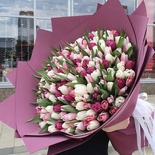 Букет из 201 тюльпана
