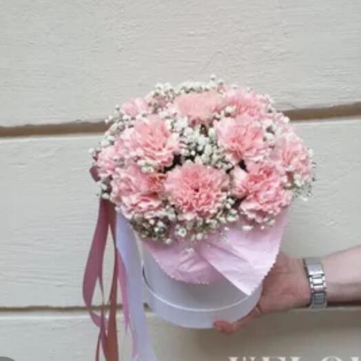 Розовый щербет из гвоздик