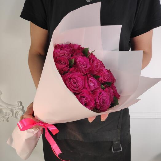 Букет из 17 роз премиум