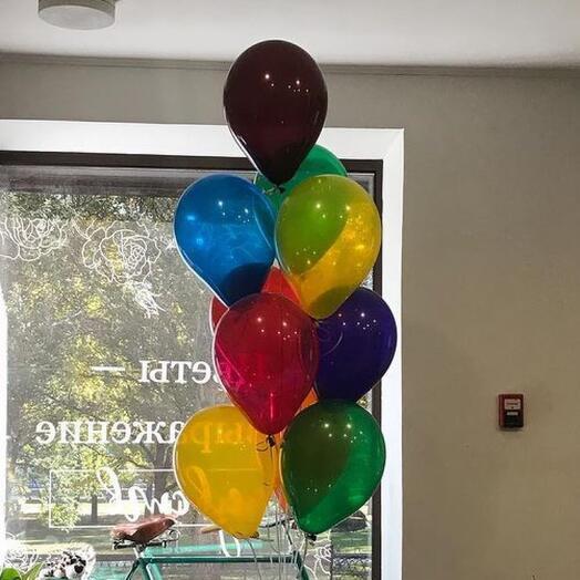 Сет из 9 разноцветных шаров(набор)