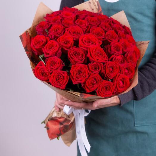 Букет красной розы