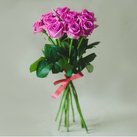 Букет из 9 розовых роз 50 см: букеты цветов на заказ Flowwow