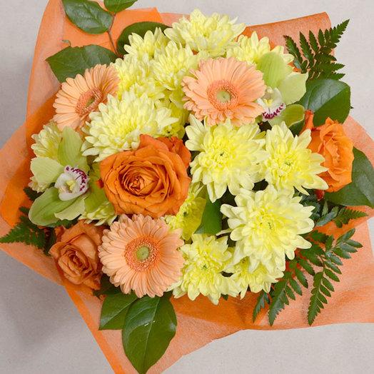 Очень яркий свежий эмоциональный букет цветов: букеты цветов на заказ Flowwow