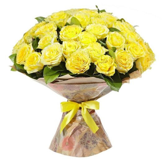 Букет из 51 желтой розы: букеты цветов на заказ Flowwow