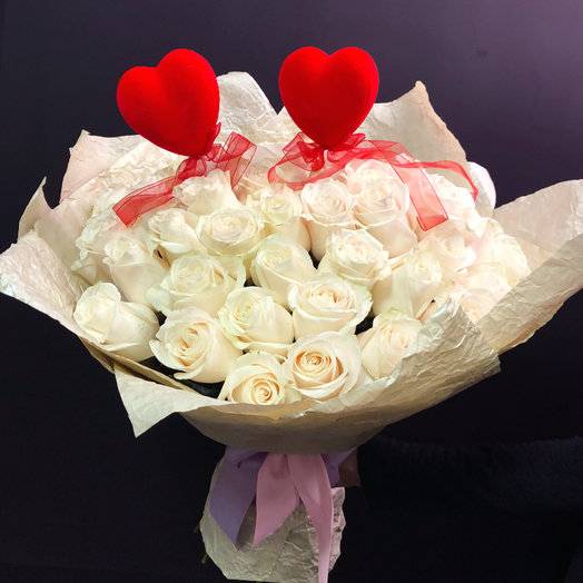 Букет из 35 Эквадорских роз: букеты цветов на заказ Flowwow
