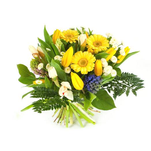 Букет «Солнце в ладонях»: букеты цветов на заказ Flowwow