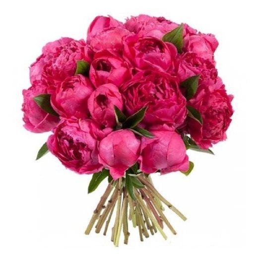 Букет из 25 красного пиона: букеты цветов на заказ Flowwow
