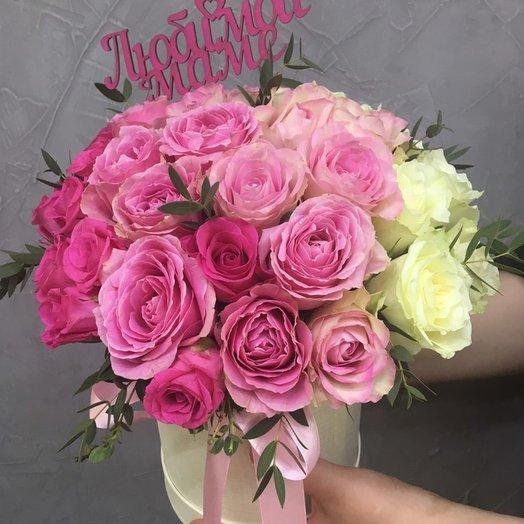 "Коробочка ""Самой"" 35 роз: букеты цветов на заказ Flowwow"