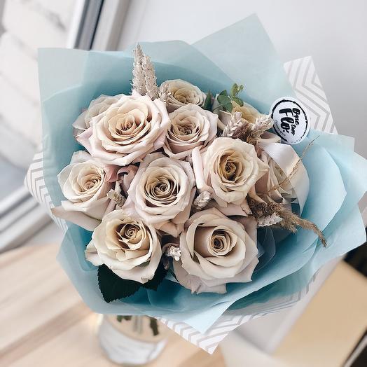 Розы «menta: букеты цветов на заказ Flowwow