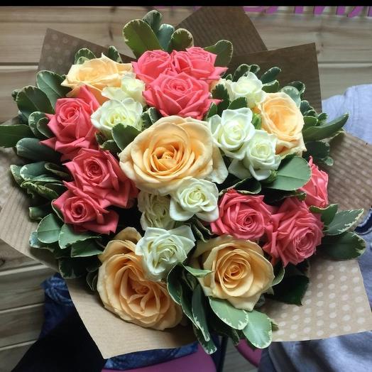 Роза микс 🌹: букеты цветов на заказ Flowwow