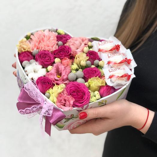 Романтика в сердце: букеты цветов на заказ Flowwow