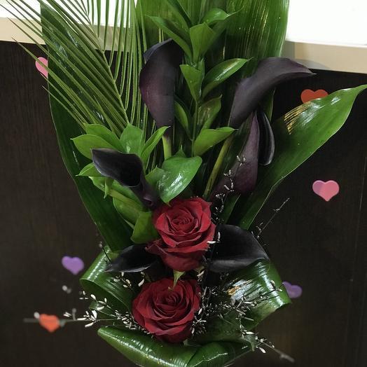 Траурный букет: букеты цветов на заказ Flowwow