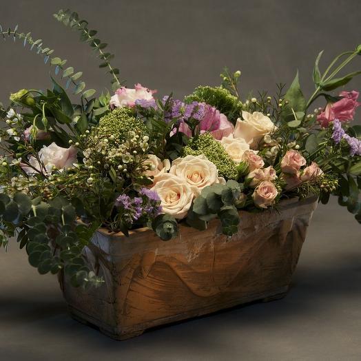 Розы. Классика . Италия. Цветочная настольная композиция: букеты цветов на заказ Flowwow