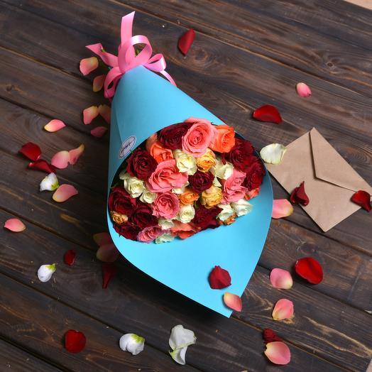 Микс Из 35 Роз: букеты цветов на заказ Flowwow