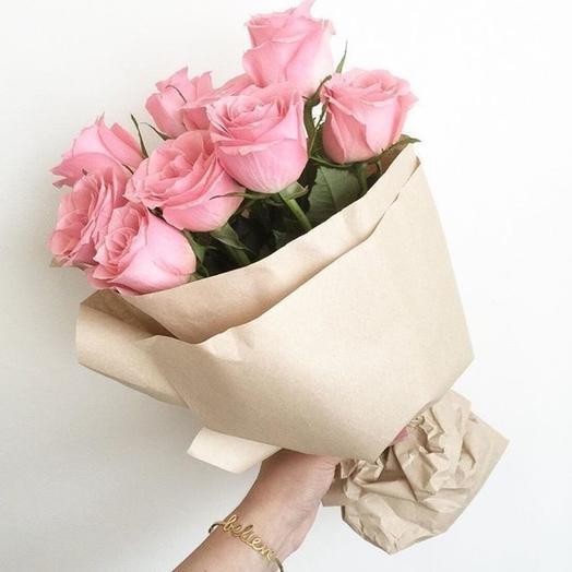 11 розовых роз нежные чувства