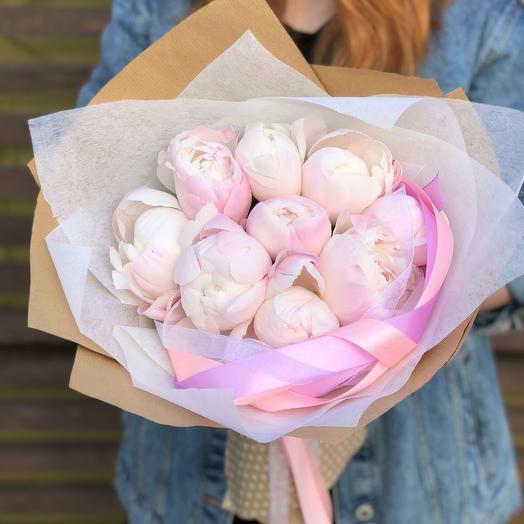 Пудровые Пионы: букеты цветов на заказ Flowwow