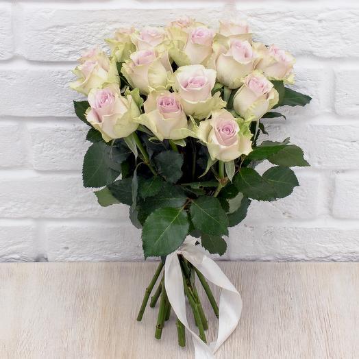 15 сереневых роз 40 см