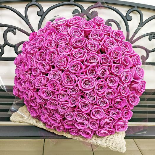 """Букет """"Розовые сны"""" (101 роза - 50 см)"""