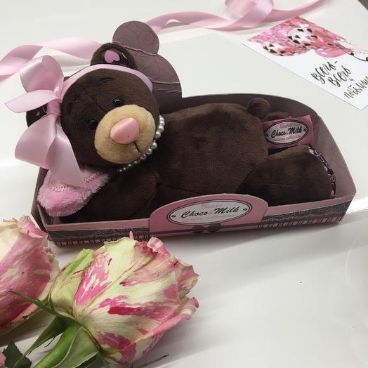 Мишка Милка Соня: букеты цветов на заказ Flowwow