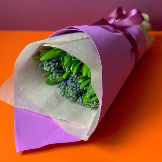 15 гиацинтов: букеты цветов на заказ Flowwow