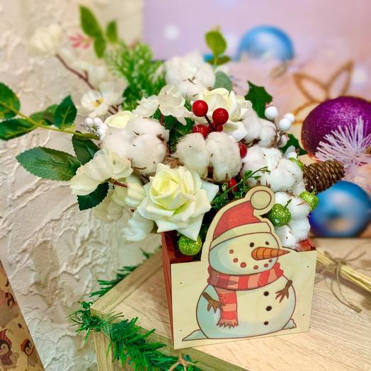 Композиция из сухоцветов и искусственных цветов: букеты цветов на заказ Flowwow