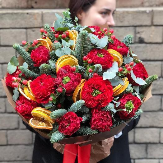Цитрусовый драйв: букеты цветов на заказ Flowwow