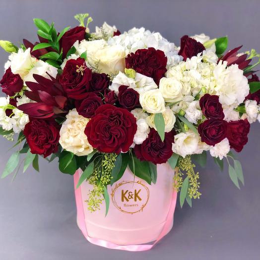XXL Hat Box Arrangement 7: flowers to order Flowwow
