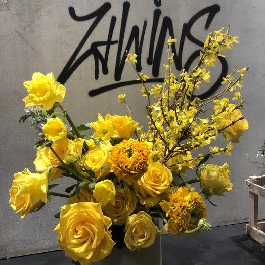 Весенний букет: букеты цветов на заказ Flowwow
