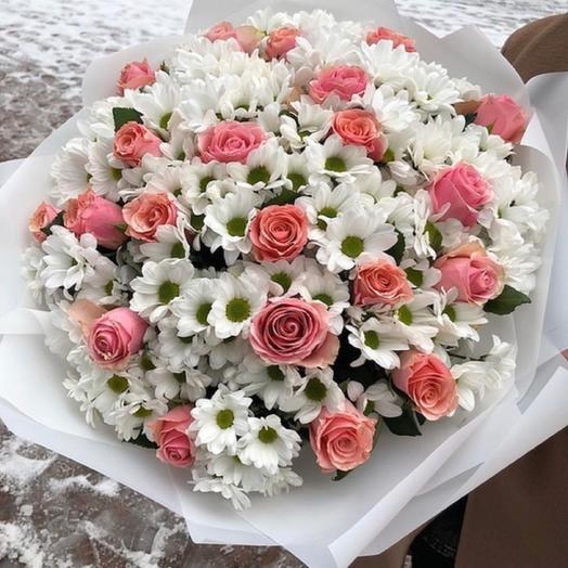 Ромашковая радость: букеты цветов на заказ Flowwow