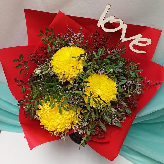 Моя звезда + Подарок Топпер: букеты цветов на заказ Flowwow
