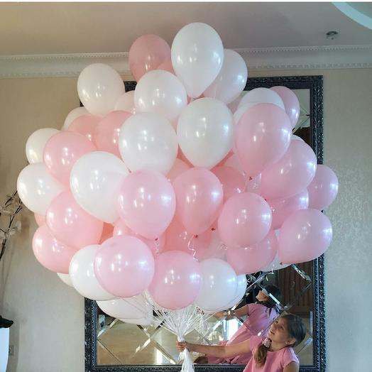 Облако из 50 шариков: букеты цветов на заказ Flowwow