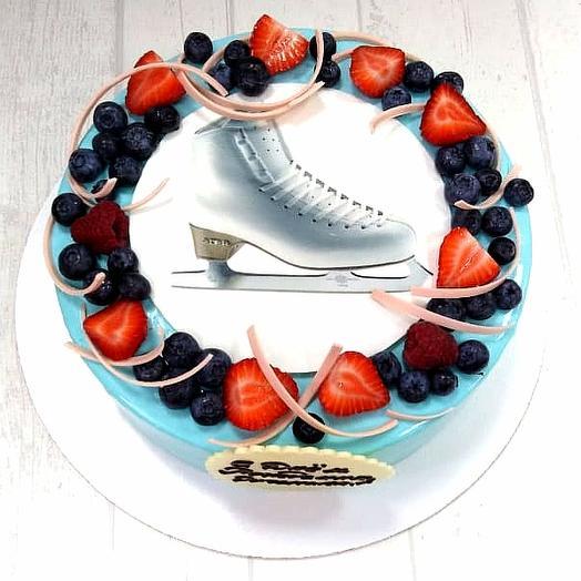 Муссовый торт с печатью на сахарной бумаге: букеты цветов на заказ Flowwow