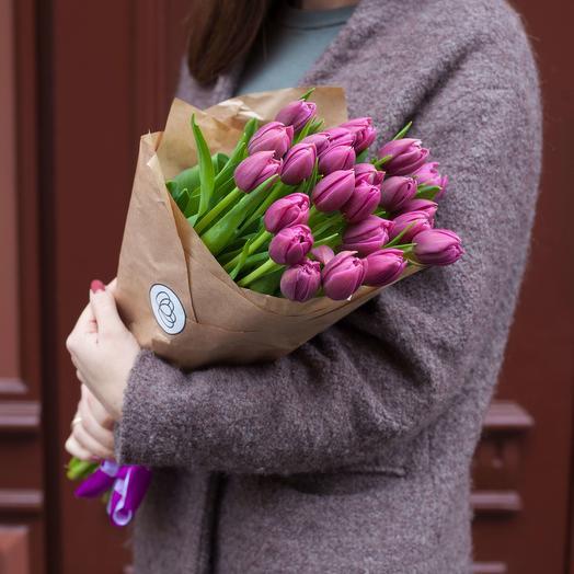 19 Малиновых Тюльпанов