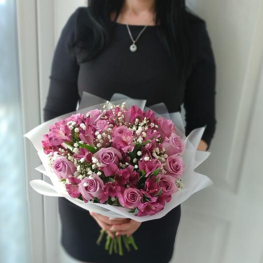 Сиреневый рай: букеты цветов на заказ Flowwow